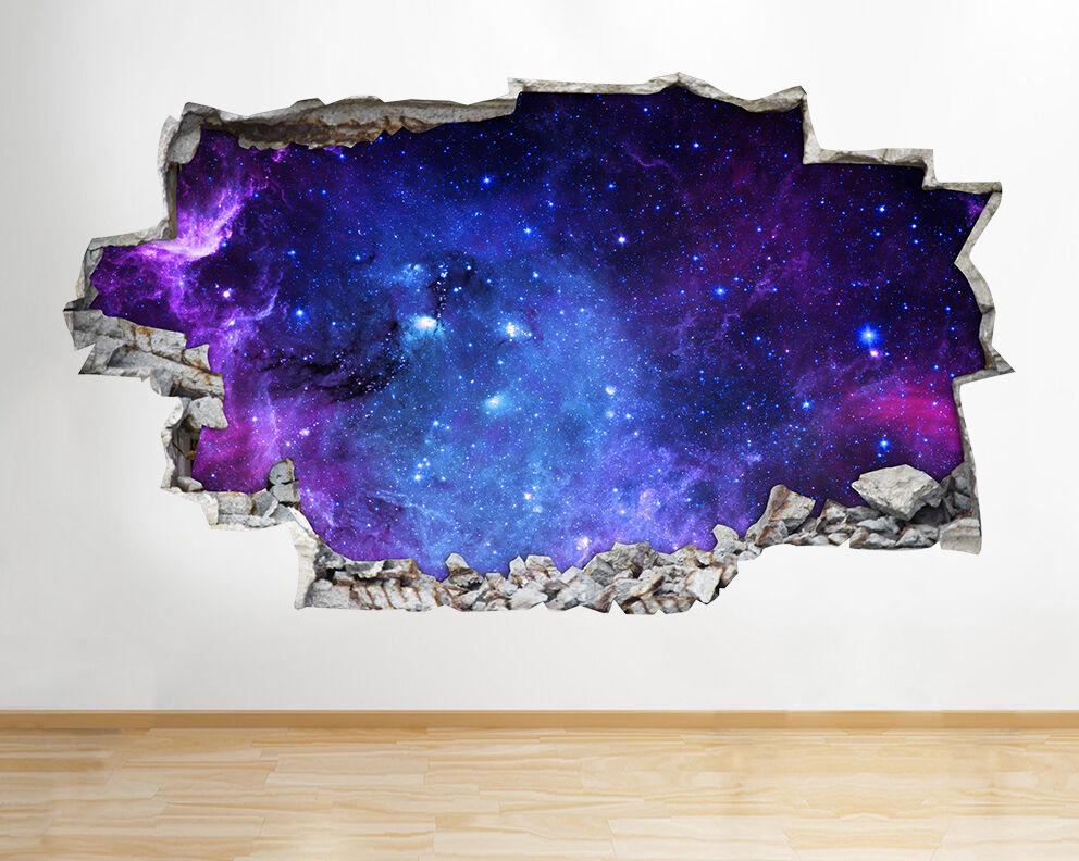 A218 Nebulosa dello spazio Pianeti Terra Luna adesivo da parete camera bambini