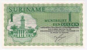 SURINAME 1 GULDEN 1974 1960 P 116 UNC