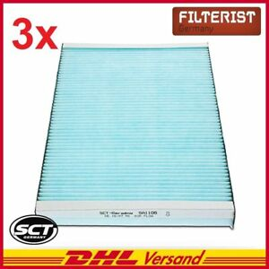 3x-sct-interior-filtro-Bioactive-VW-Caddy-II-Golf-III-IV-Lupo-Passat-Polo-vento