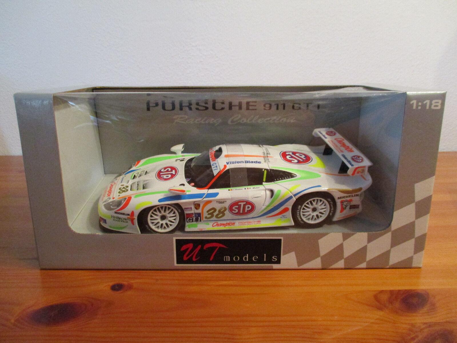 ( GO ) 1:18 UT Models Porsche 911 GT1 neuf emballage scellé # 38 | Avoir à La Fois La Qualité De La Ténacité Et De Dureté