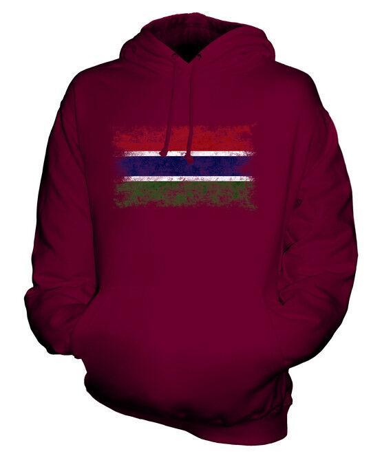 GAMBIA WEINLESE FLAGGE UNISEX KAPUZENPULLOVER HOODIE PULLI HOODY HERREN DAMEN