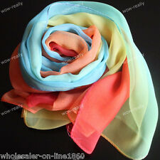 New Fashion Women's Long Blue Yellow Red Scarf Wraps Shawl Stole Scarves