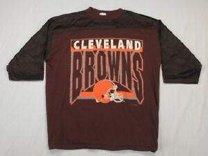 Image is loading Vintage-Cleveland-Browns-Football-Jersey-T-shirt-NFL- a32255073