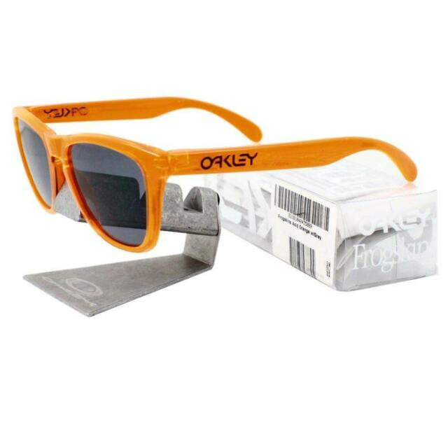 5ab103734a4 Oakley 24-252 FROGSKINS Acid Orange with Grey Lens Mens Womens Sunglasses .