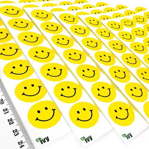 420 couleur jaune autocollants-Smiley//Visage//motivationnelles//mérite Ivy Papeterie