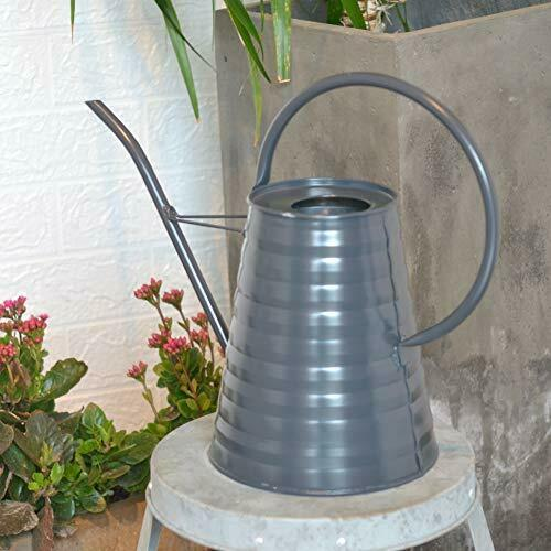 HORTICAN Galvanized Watering Can Modern Style Watering Pot with Handle for