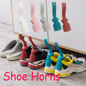 Lazy-Shoes-Lifter-Flexible-Plastic-Shoehorn-Spoon-Professional-Horns-Colorful