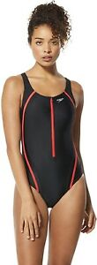 Speedo-Women-039-s-238865-One-Piece-Quantum-Splice-High-Cut-Swimsuit-Size-10