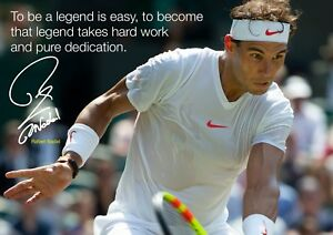 Rafael Nadal Poster 21 Motivational Quotes Tennis Champion A3 Poster Ebay
