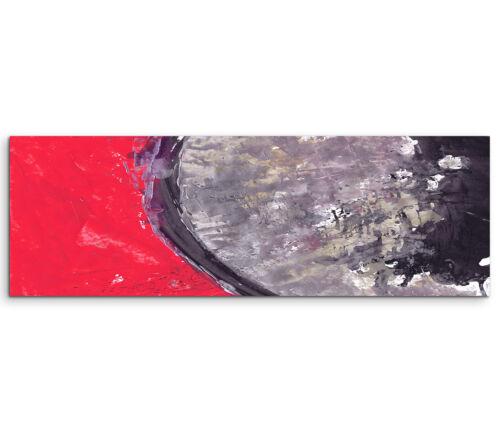Leinwandbild Panorama rot grau braun schwarz Paul Sinus Abstrakt/_630/_150x50cm