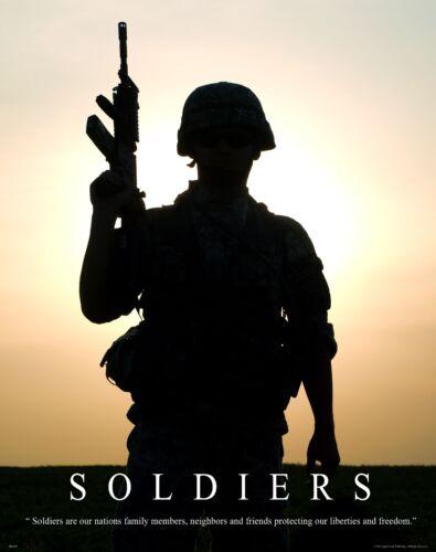 US Military Motivational Poster Art Print Army Marines Rangers Sniper  MILT39
