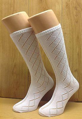 Chicas calcetines 3 Pares De Rodilla Alta Pelerine calcetines Ideal Para Escuela ** Reino Unido realizó **