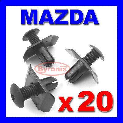 MAZDA FRONT REAR BUMPER TRIM CLIPS RETAINER FASTENER 3 323 mx3 mx5 mx6 mpv rx8