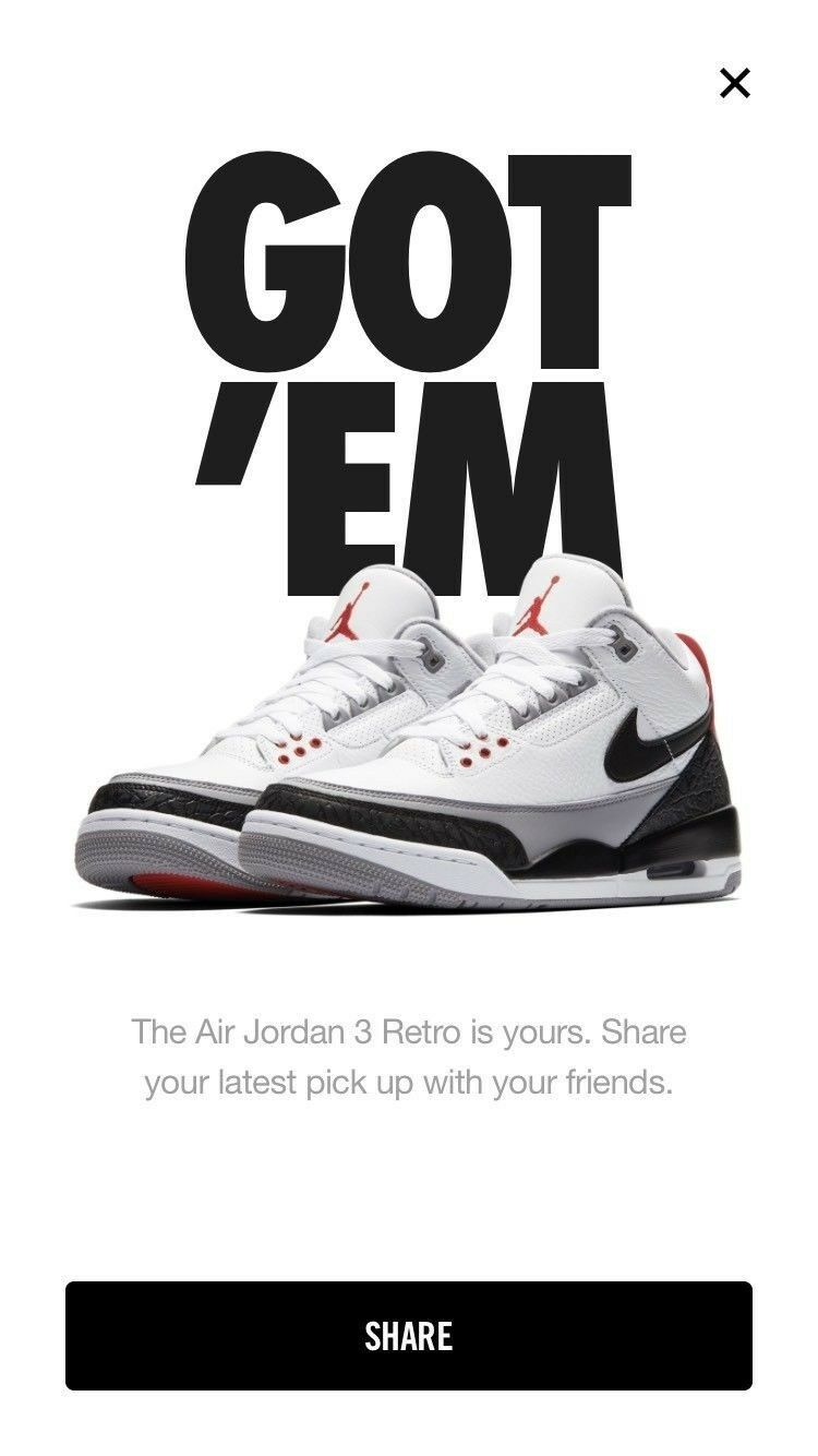 e2ac4182a1f Nike Jordan 3 Tinker Hatfield 10.5 Deadstock size Air ntxbev1192-Athletic  Shoes