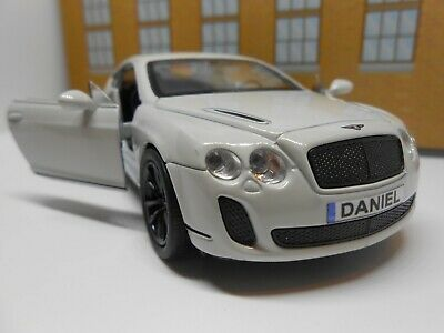 PERSONALISED PLATES Gift Bentley Boys Dad Toy Model Car Birthday Present Boxed