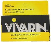 2 Pack Vivarin Caffeine Alertness Aid Safe & Effective 200mg 40 Tablets Each on sale