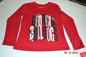 Image is loading New-Kids-Glitter-Georgia-Bulldog-Shirt 5fce025dd