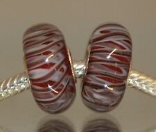 Crazy Worm Rood Rosso Rot Red Rojo 925 Sterling Silber Murano Glas Bead Beads