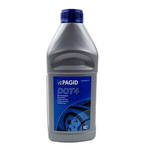 Details about Pagid 1L Brake Fluid 1 Litre DOT 4 Minimum Dry Boiling Point 260C Wet 165C
