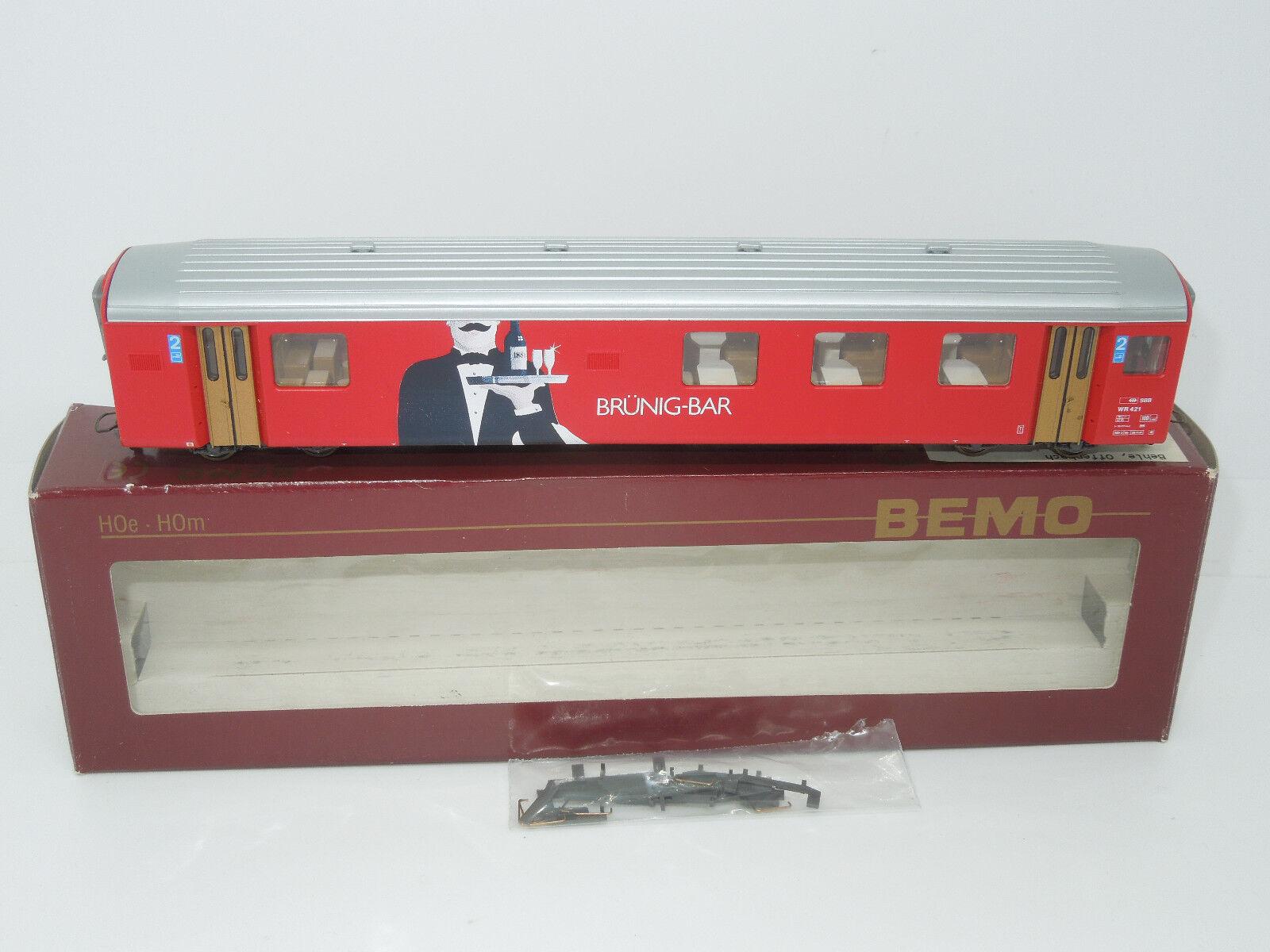 BEMO h0e 3278421 vagoni Brünig-BAR 2. KL SBB