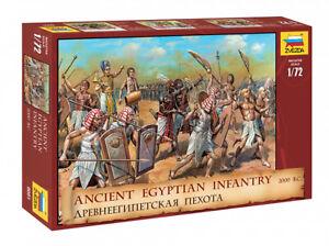Zvezda-8051-1-72-Lot-de-Figurines-Ancient-Egyptian-Infanterie-2000-B-C-Neuf