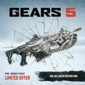XBOX-ONE-Gears-5-Exclusive-COG-Air-Lancer-Weapon-Skin-DLC-XB1-of-war