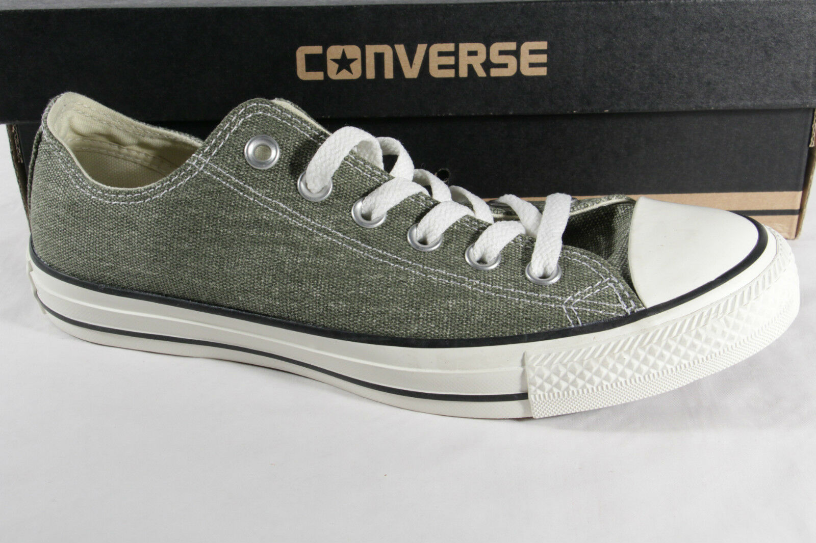 Converse All Star Chaussure à Lacets, Vert Jonc, Textile Lin, Neuf