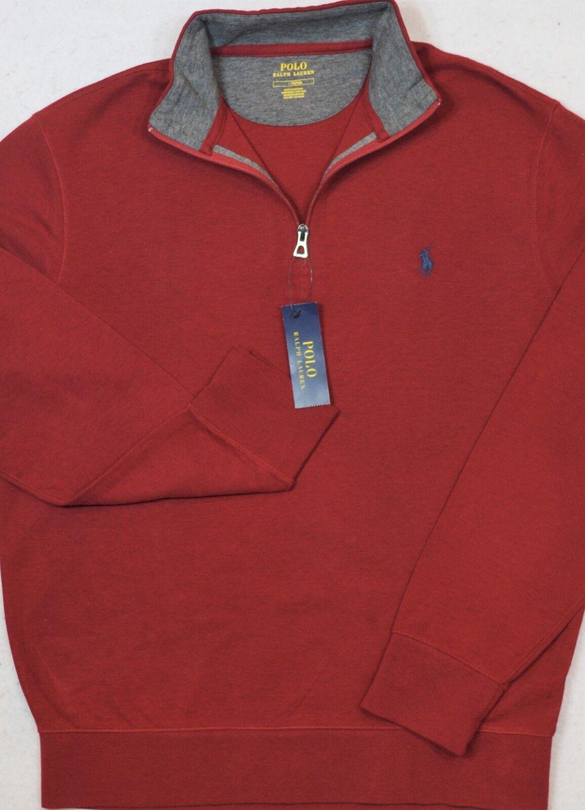 Polo Ralph Lauren Jersey Pullover ROT 1/2 Half-Zip Größe M Medium NWT