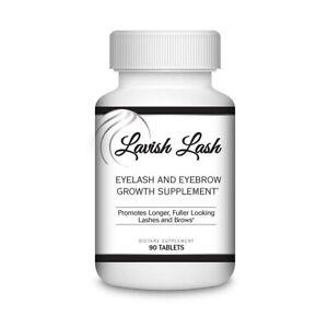 Hairgenics Lavish Lash Eyelash & Eyebrow Growth Enhancer Oral Supplement Biotin