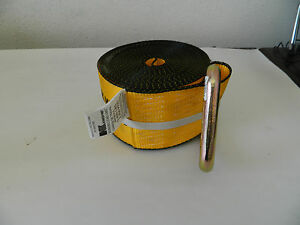 "KINEDYNE Winch Strap w/Delta Ring 30'x4"".5400 lb. 423021"
