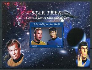 Mali-2018-CTO-Star-Trek-Captain-James-Kirk-amp-Spock-Leonard-Nimoy-1v-M-S-Stamps