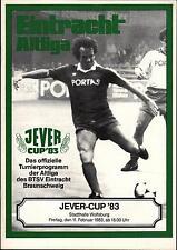 11.02.1983 HT Concordia Braunschweig con Hamburger SV, Uwe Seeler - - ADIDAS-team...