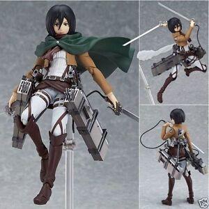 Figma Action Figure Mikasa Attack On Titan Ackerman Japanese Anime  PVC In Box