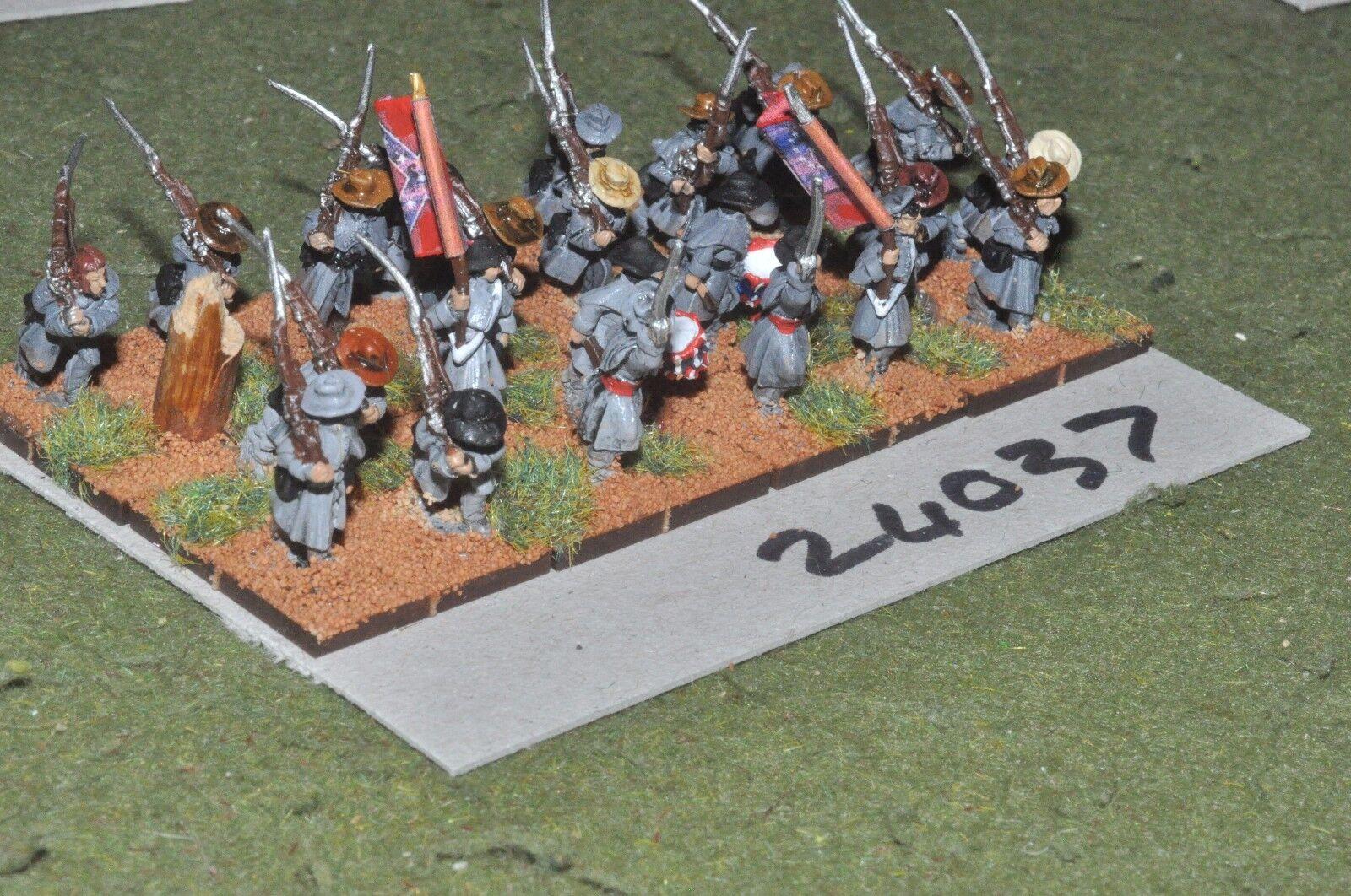 15mm ACW   confederate - regiment 24 figures - inf (24037)