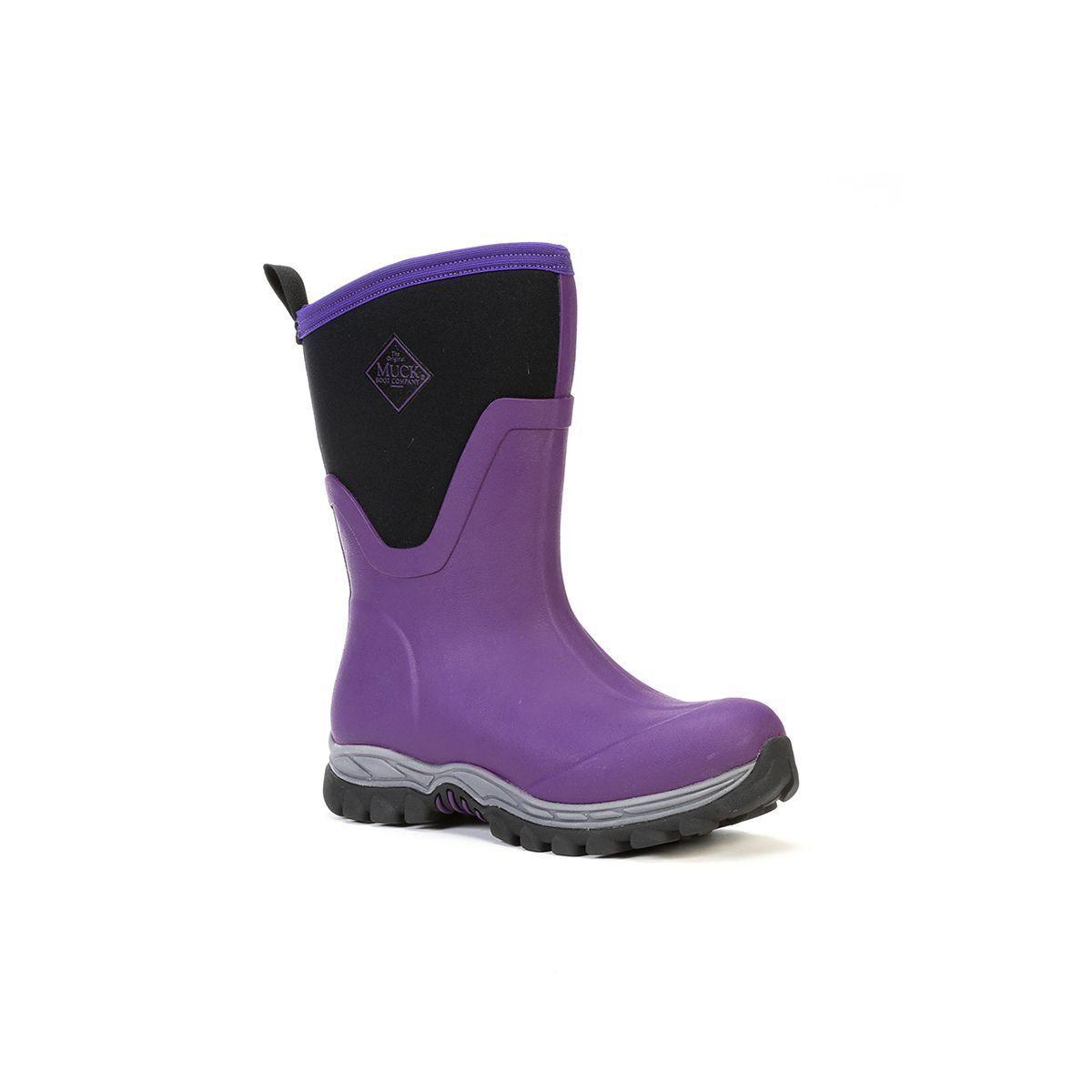 Muck Boots Company Women's ARCTIC SPORT II MID, ACAI PURPLE, Neoprene Rubber