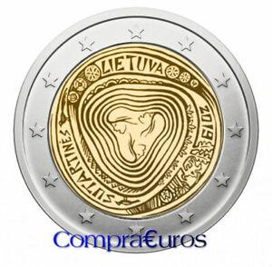 2-Euros-Conmemorativos-LITUANIA-2019-Los-Sutartin-s-Sin-Circular