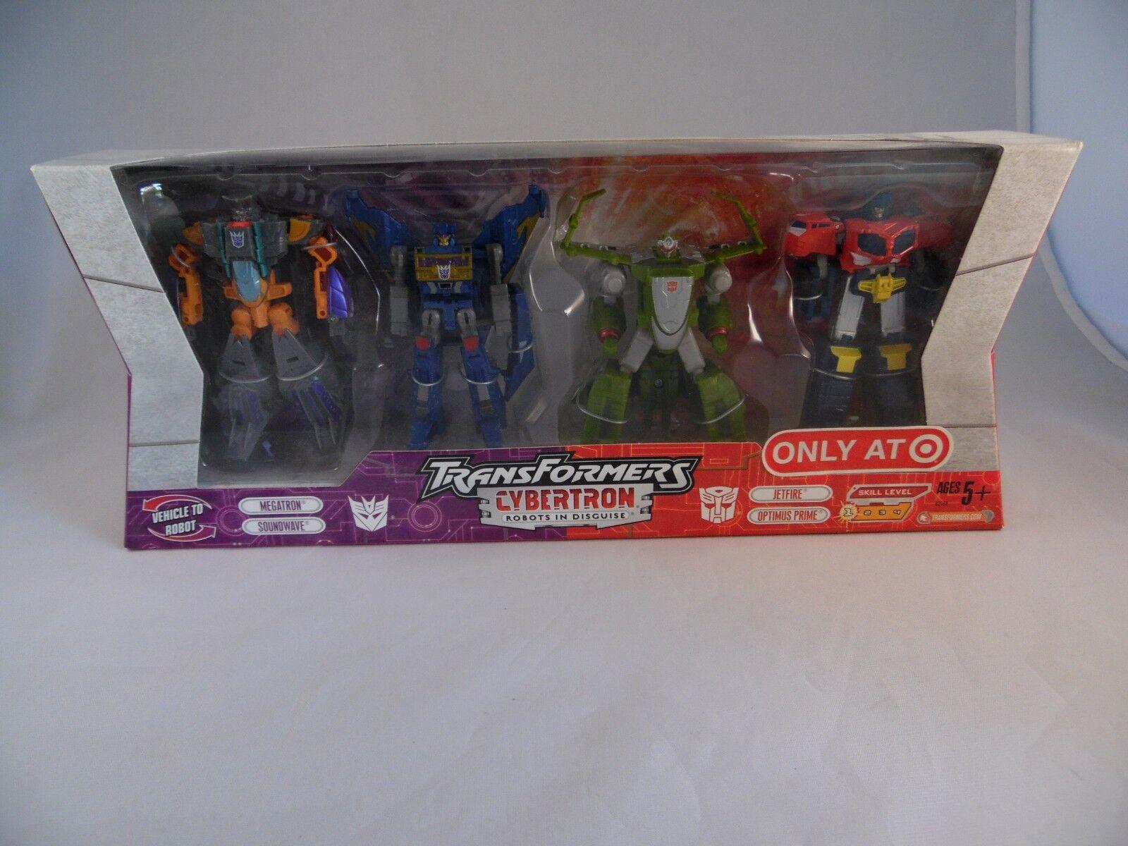 Transformers Cybertron Target Exclusive Robots Megatron Soundwave Jetfire Prime