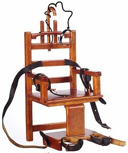 Dollhouse-Miniature-034-Old-Sparky-034-Electric-Chair-1-12th-Scale
