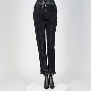 GIVENCHY-890-Authentic-New-Black-Marble-Denim-Slim-Fit-Jeans