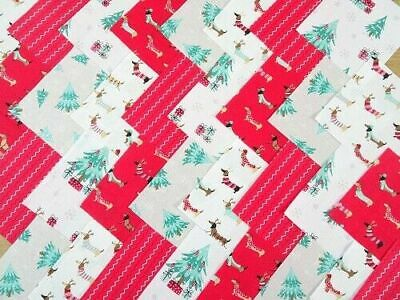 50 X 4 INCH SQUARES COTTON PATCHWORK FABRIC CHARM PACK CHRISTMAS