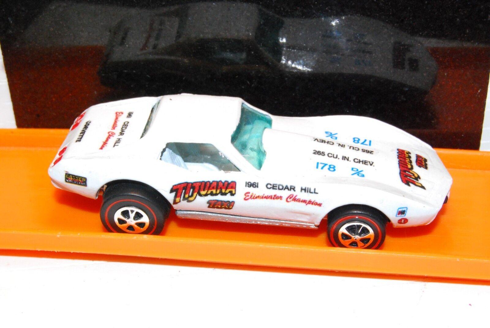 Tijuana Tijuana Tijuana Taxi Corvette Hot Wheels rojoline Dragster Premium Resto-Conversión 43643e