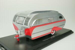 AERO-FLITE-FALCON-WOHNWAGEN-TRAVEL-TRAILER-1948-SILBER-ROT-1-43-NEO-47260-NEU