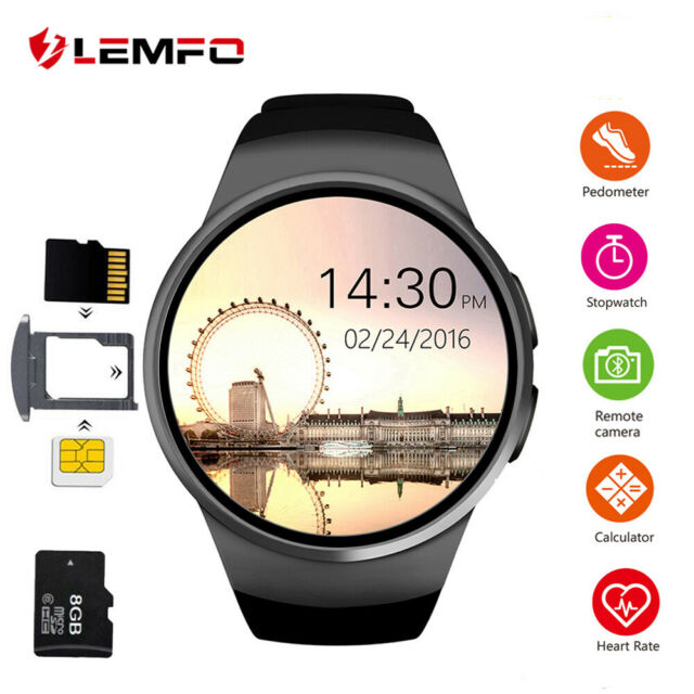 26177b2c85 LEMFO Kw18 Bluetooth SIM TF Smart Watch Phone Sport Pedometer for Android  IOS