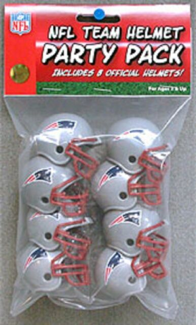 New England Patriots 8 Pack NFL Riddell Gumball Team Helmet Novelty Party Pack