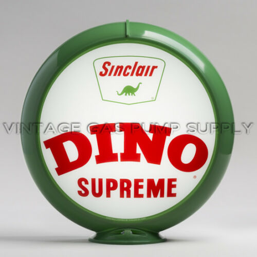 "Sinclair Dino Supreme 13.5/"" Gas Pump Globe w// Green Plastic Body G426"