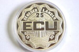 Silbermuenze-25-ECU-1990-Niederlande-PP