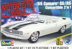 Revell-1969-Camaro-SS-RS-Convertable-1-25-model-kit-4929-DAMAGED-BOX