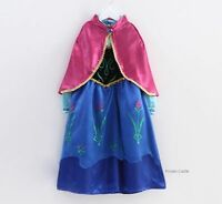 Frozen Dresses Elsa Anna Fancy Costume Disney Princess Girls Queen Cloth Kids