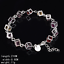 Women-Jewelry-Bangle-Chain-925-Silver-Plated-Crystal-Beads-Cuff-Charm-Bracelet thumbnail 2