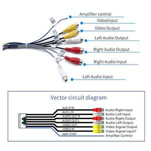 20Pin Plug to 6x 3.5mm RCA Female Car Stereo Adapter Cable Wiring Harness  Wire 710654523038 | eBayeBay